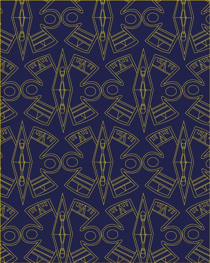ORO AZULADO. Se muestra algunas formas de la época para hacer referencia a los minerales, oro , plata y como era parte de la ornamentaría . como centro de todo un hombre trabajador.#arteprecolmbino  #precolombianart #estampados #sublimacion #art #formasantiguas #fashionillustration #illustratordesign