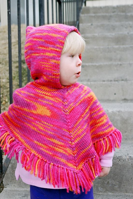 # 243 Children's Poncho   Knitting Pure And Simple
