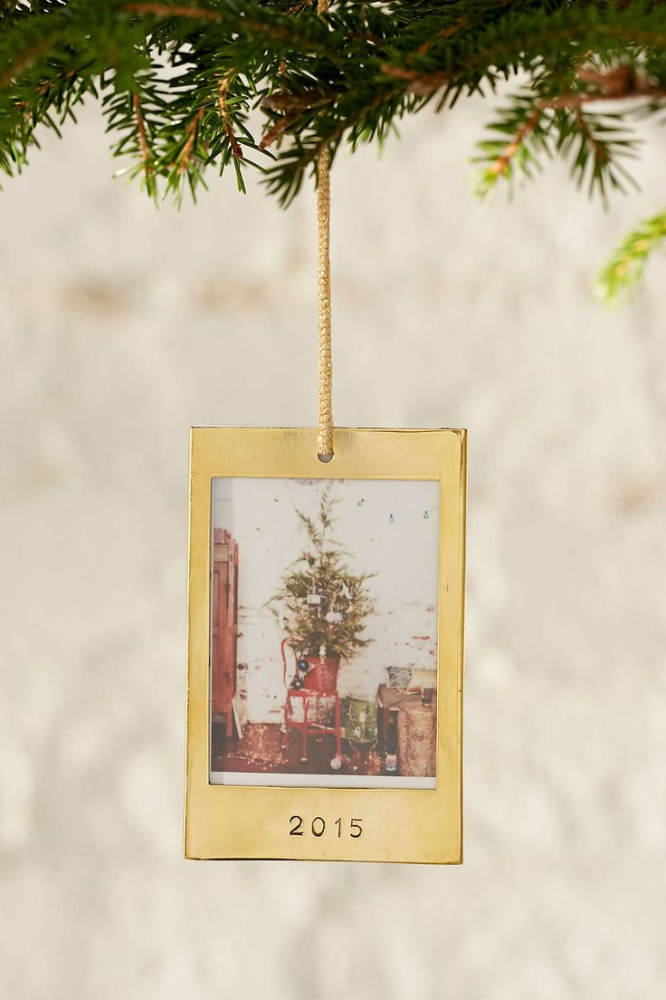 Picture frame christmas ornaments - Instax 2015 Frame Ornament