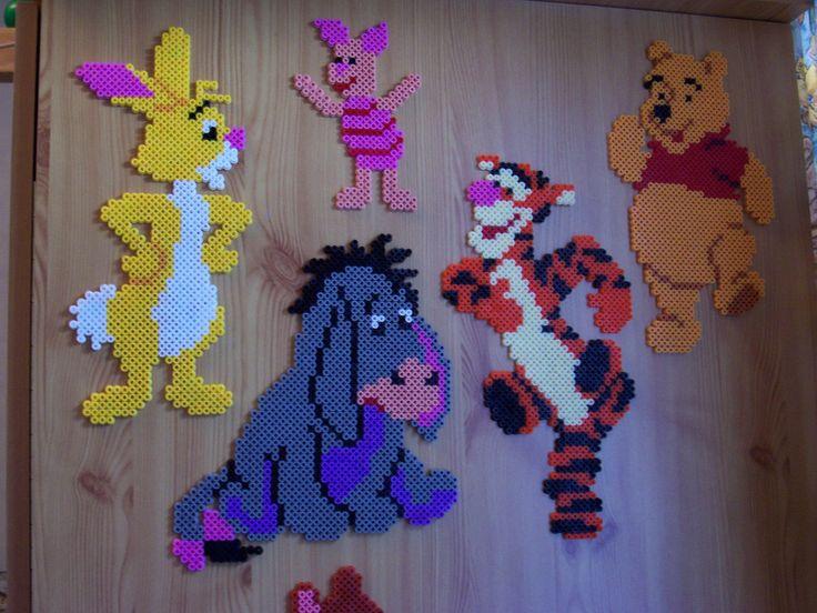 Winnie & Friends hama perler beads by Shazann