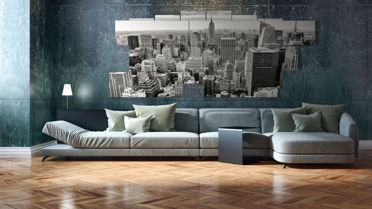 Extra large wall art - multipanel 3D - 239x94 cm - 13 pieces. Printed in photo quality on laminated paper. MADE IN ITALY. #quadri3D #design #wallart #multipanel #quadri