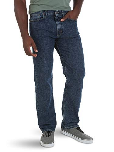 d5c2bd15 Wrangler Authentics Men's Big & Tall Relaxed Fit Comfort Flex Waist Jean,  Dark Stonewash,