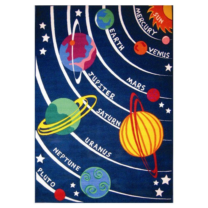 Fun Rugs Fun Time Solar System Classroom Area Rug