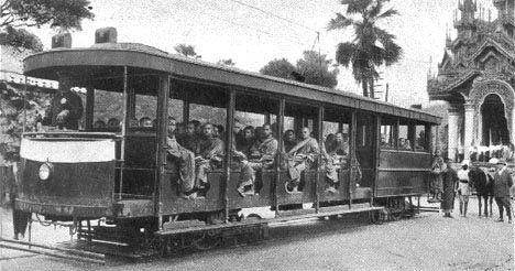 高世 仁(@takasehitoshi)さん | Twitter・・・赤津陽治 YojiAkatsu @yojiakatsu  1月11日 ミャンマーの路面電車は、20世紀初頭にはマンダレーとヤンゴンで運行が開始され、第二次世界大戦まであったようだ。日本軍の空爆で破壊されたという。(TRAM VIEWS OF ASIA)