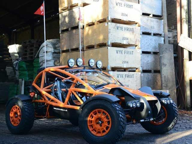 Crazy Off-Roaders: Ariel Nomad Supercharged. There is no crazier off-road vehicle than Ariel Nomad which is also legal for public roads.  This 1,474 pounds car is powered by a 2.4-liter engine that produces 235 hp and 221 lb-ft of torque. The engine is made by Honda and give the weight of the vehicle those are some really insane...
