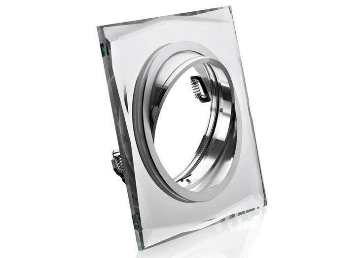 Einbaustrahler AR111 / ES111 aus Kristallglas Klar Rund