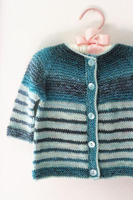 Tanis Fiber Arts: Handspun Garter Yoke Baby Sweater pattern free on Ravelry