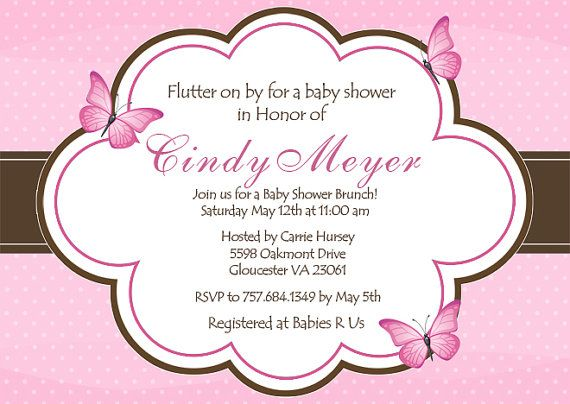 Butterfly Baby Shower Invitation by PlayfulPrints on Etsy
