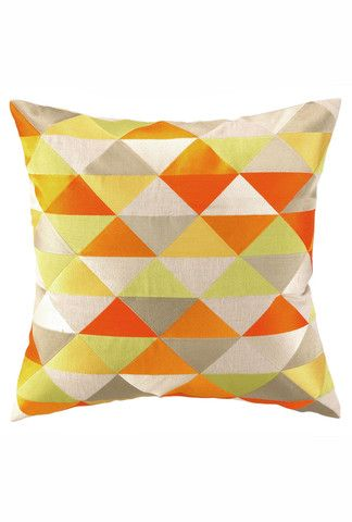 Hollister Pillow in Yellow and Orange design by Trina Turk
