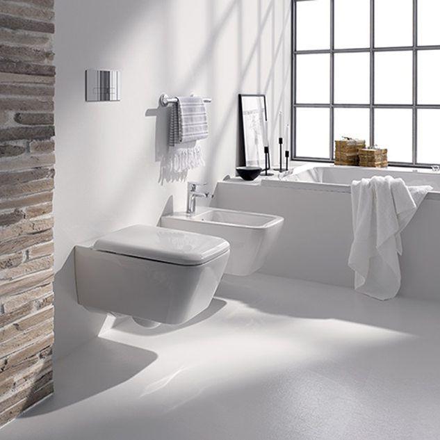 Łazienka w bieli,  czyli nowoczesny minimalizm!  #KOŁO #łazienka #inspiracje #inspiracja #łazienki #wystrójwnętrz #wystrój #interior #white #bathroom #minimal #interiordesign
