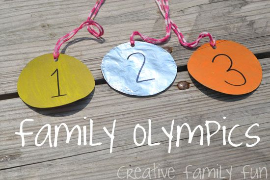 Creative Family Fun Nights: Family Olympics ~ What events would you have during a family Olympics?#Repin By:Pinterest++ for iPad#