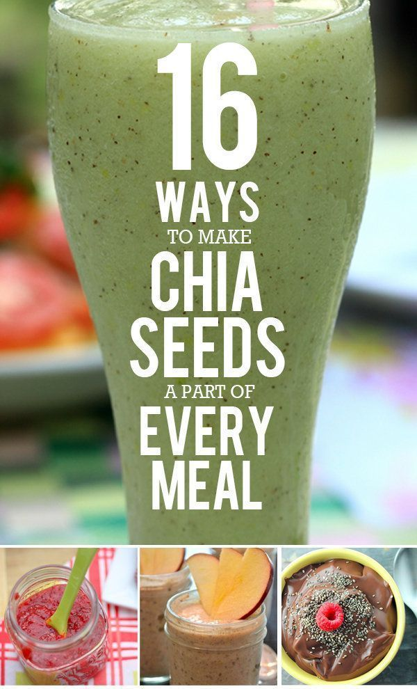 Chia seeds are great source of fiber and omega-3 fatty acids--Here are 16 Ways to Make Them a Part of Every Meal.