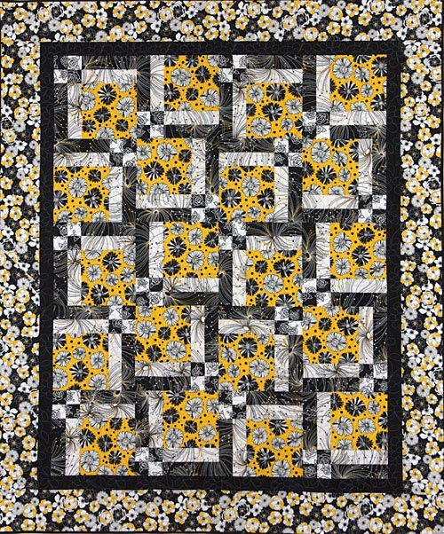 Turn Around Pattern. Great for large print or novelty fabrics. In yellow/black/white. Crafts ...