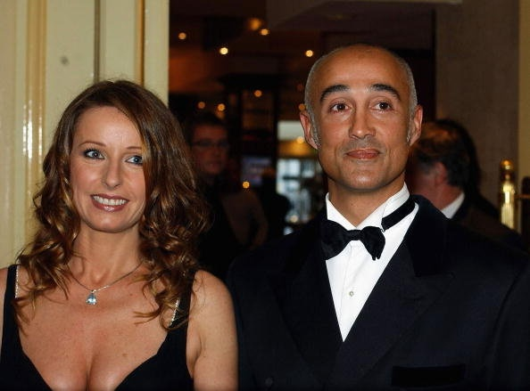 Andrew Ridgeley (Wham!) and Keren Woodward (Bananarama) at a charity dinner in 2005 #AndrewRidgeley #Wham!