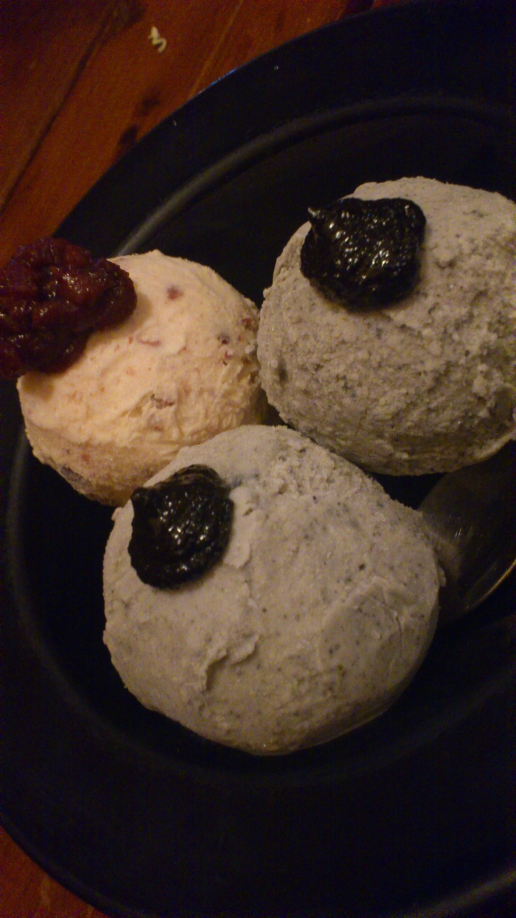Black Sesame/Red Bean Ice-Cream, Nishiki Japanese Restaurant, Auckland, New Zealand