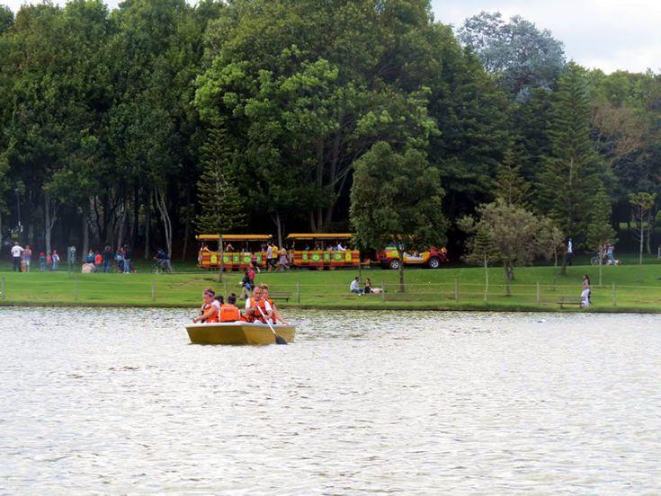 El tren le da la vuelta al parque en medio de la tupida vegetación: http://www.tuhotelbogota.co/category/parques/parque-simon-bolivar/