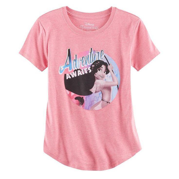 "Disney's Elena of Avalor ""Adventure Awaits"" Girls 7-16 & Plus Size Tee, Size: Xxl Plus, Med Pink"