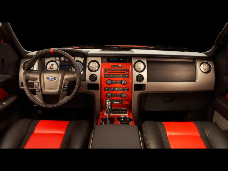 "Ford SVT Special Vehicle Team F-150 offroad ""Raptor"" trucks  red interior"