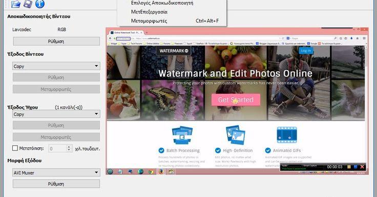 To Avidemux είναι ένα δωρεάν πρόγραμμα επεξεργασίας βίντεο σχεδιασμένο για κόψιμο φιλτράρισμα και κωδικοποίηση αρχείων βίντεο. Υποστηρίζει πολλούς τύπους αρχείων συμπεριλαμβανομένων AVI DVD συμβατά αρχεία MPEG MP4 και ASF χρησιμοποιώντας μια ποικιλία codecs. Οι εργασίες μπορούν να αυτοματοποιηθούν χρησιμοποιώντας ισχυρές δυνατότητες scripting. Παρέχει επίσης ένα μεγάλο αριθμό βίντεο φίλτρα π.χ. resize deinterlace IVTC denoise κ.λ.π.Avidemux : 2.6.19  Author's Website: ΛΕΙΤΟΥΡΓΙΚΟ ΣΥΣΤΗΜΑ…
