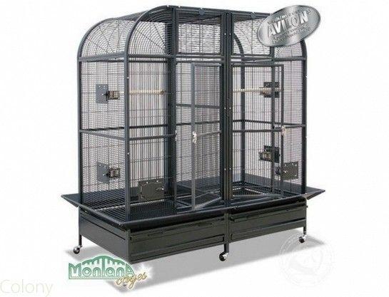 Perroquet : Cages et Transport | Cages | Pour bec droit, perruche, grande perruche, conure