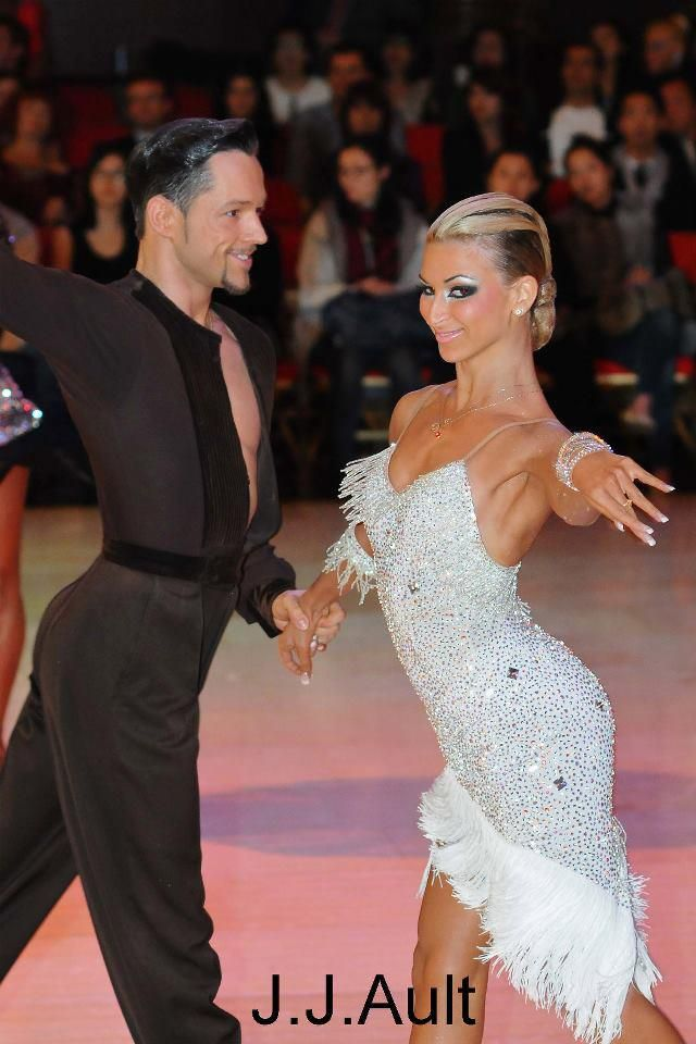 Dancesport hair that would work for latin and standard.