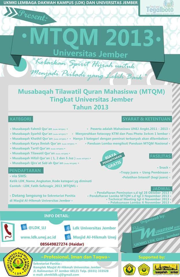 MTQ Mahasiswa Tingkat Universitas Jember 2013