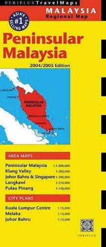 Peninsular Malaysia Travel Map 3rd Edition 20042005 Edition Malaysia Regional Maps *** Read more  at the image link.