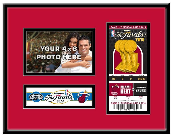 2014 NBA Finals 4x6 Photo &Ticket Frame - Miami Heat