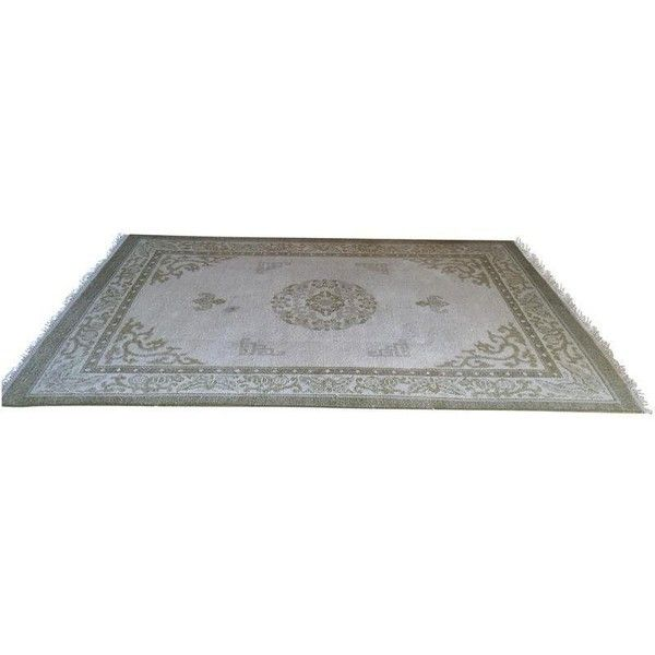 """Vintage Asian Area Rug - 5'11"""" x 9'4"""" (4,850 CNY) ❤ liked on Polyvore featuring home, rugs and tapete"""