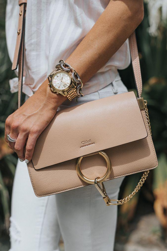 high low fashion, designer handbag, chloe, nordstrom, madewell, stripes, spring fashion, spring style