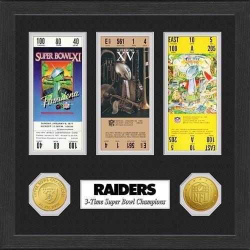 Oakland Raiders SB Championship Ticket Collection