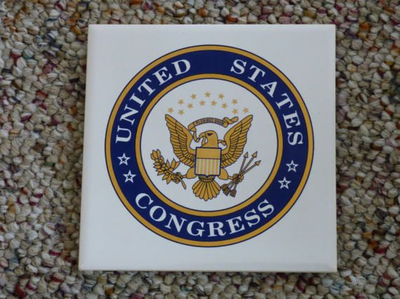 United States Congress Coaster Set  Vintage by ChicAvantGarde