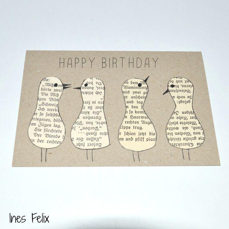 Geburtstagskarte mit Piepmatz Ihr braucht ganz schnell eine Geburtstagskarte? Na dann mal los. Diese hier habt ihr in weniger als 10 Minuten fertig, das ist auch eine hübsche Idee, um Kinder eigene Geburtstagskarten oder Einladungen machen zu lassen. Schnell, bunt und individuell - so wie eine Geburtstagskarte sein sollte. http://inesfelix-kreativ.blogspot.com/2016/06/geburtstagskarte-mit-piepmatz_25.html