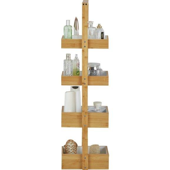 Regal aus Bambus in Weiß - der stilvolle Ordnungshüter