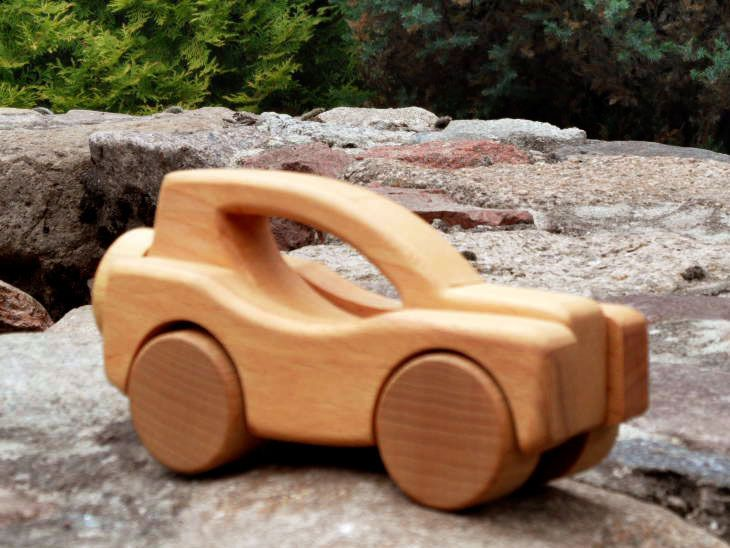 Eco SUV wooden toy car from Desdeco Wooden Toys by DaWanda.com