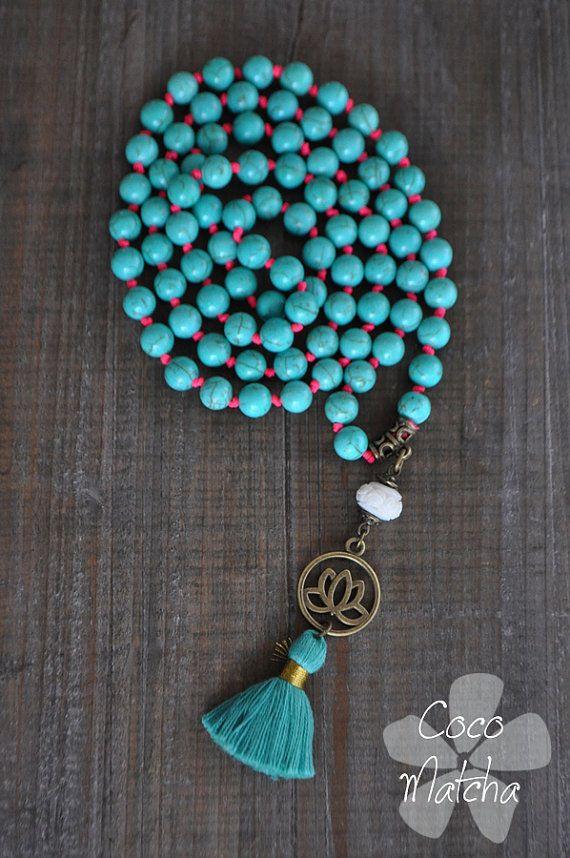 Inspiration mala necklace Chapelet bouddhiste par CocoMatcha