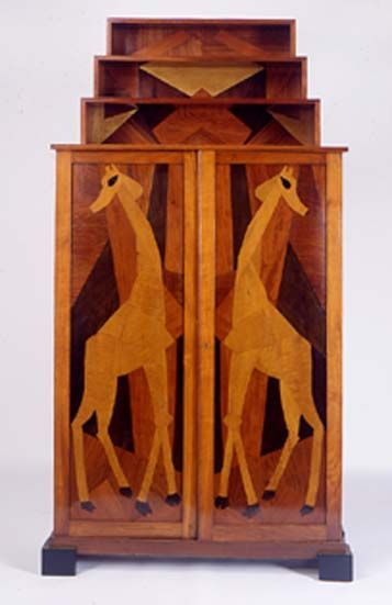 Giraffe Cabinet, designed by Roger Fry; Manchester Gallery