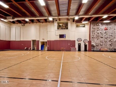 28 best indoor basketball courts images on pinterest for Indoor residential basketball court