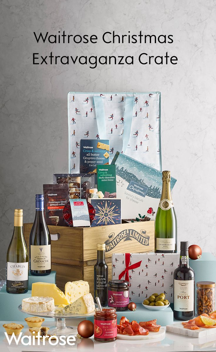 23 best christmas hampers 2017 waitrose images on pinterest indulge with the waitrose christmas extravaganza hamper packed full of delicious treats from turkish delight solutioingenieria Gallery