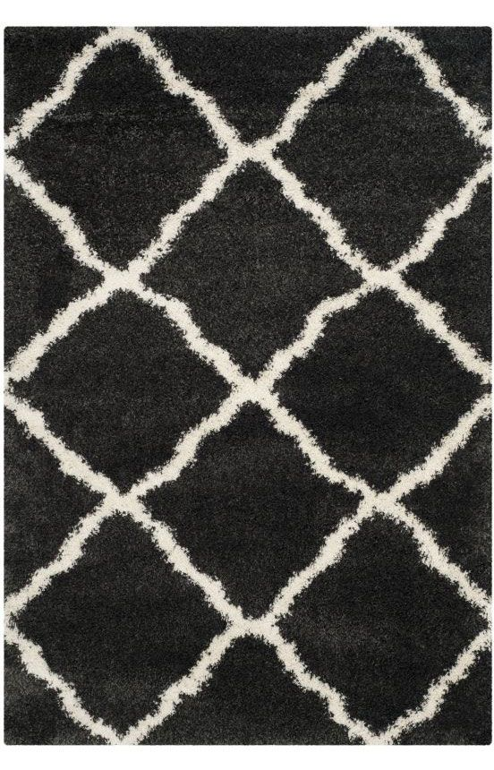 $5 Off when you share! Safavieh Belize Shag SGB489C Charcoal Rug #RugsUSA