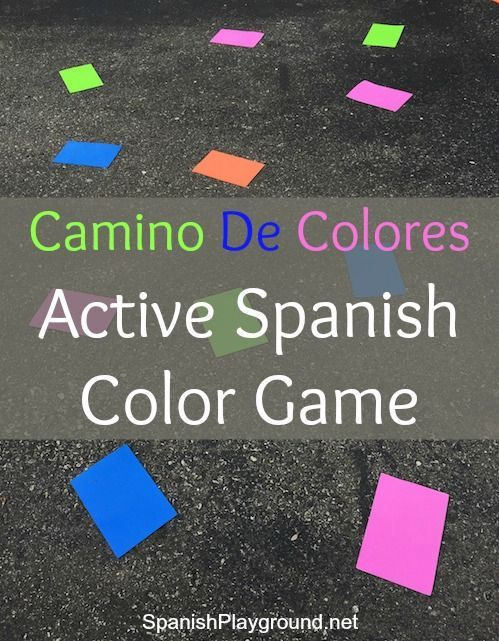 spanish color game camino de colores - Color Games For Kindergarten