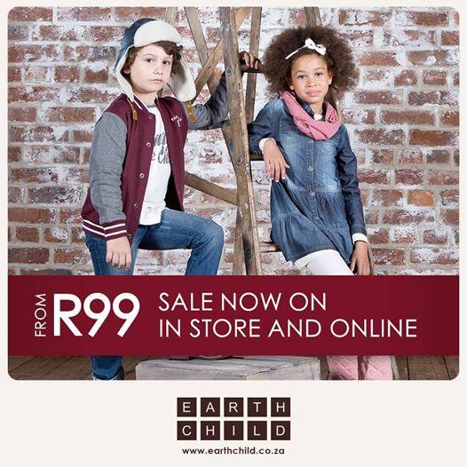 Sale now on! www.earthchild.co.za