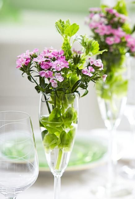 Toast with petals instead of wine. More ideas for budget flower displays: http://www.midwestliving.com/homes/decorating-ideas/5-budget-flower-arrangements/