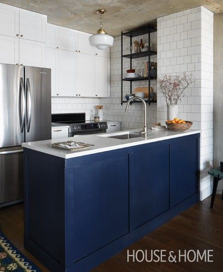Photo Gallery: 10 Kitchens With Colourful Cabinetry | House & Home