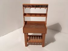 Vintage Tomy Dollhouse Furniture Kitchen Bakers Rack 1:16 #5