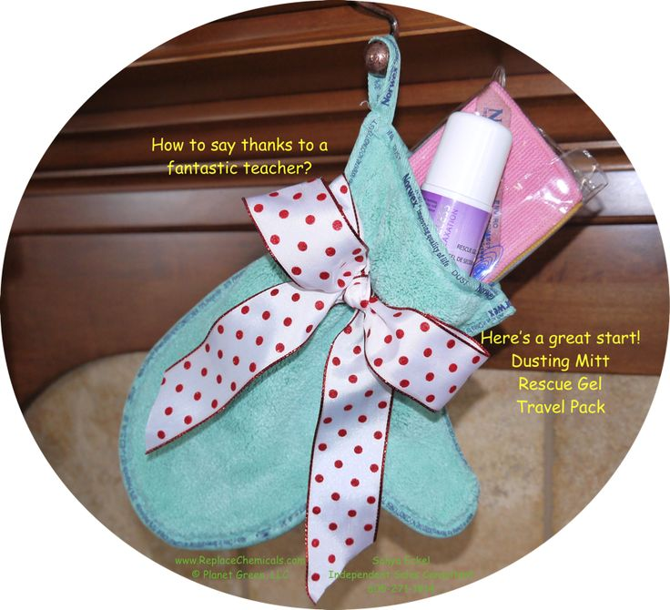 "Are you looking for a GREAT Teacher Gift?? Check out the amazing #Norwex GREEN Dusting Mitt!  Add in the items that you think your teach will most appreciate (shown here are the Rescue Gel and Travel Pack).  It makes an adorable ""stocking"", and she'll be thrilled!   Call me if you'd like help designing your teacher's 'stocking'!  Or shop right online at www.SonyaEckel.norwex.biz.  (605) 271 . 1814 Have a blessed Thanksgiving!   www.ReplaceChemicals.com  #teachergiftidea"