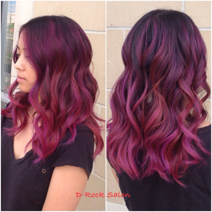 263 best color images on pinterest hair hairstyle and colours rose purple color melt hair color 2015 ombr red purple balayage purple urmus Images