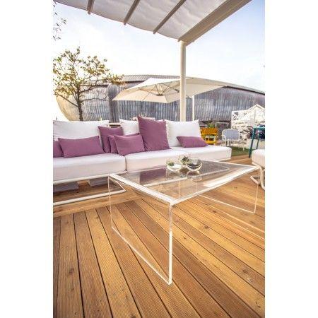 Tavolino a ponte in plexiglass 100x50 h:40  elegente e moderno. #design #plexiglass arredo #arredamento #tavolino #roma