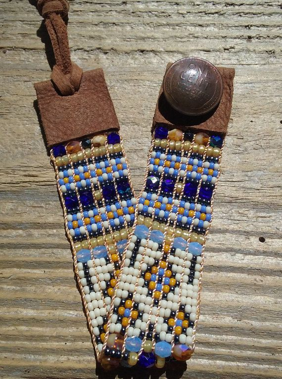 Boho chic jewelrysouthwest chic  bead woven by Adornments925