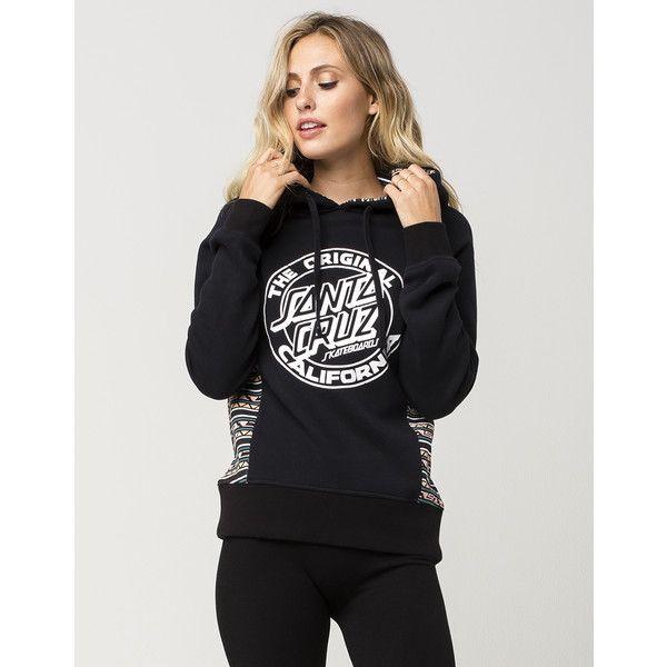 Santa Cruz California Womens Hoodie ($48) ❤ liked on Polyvore featuring tops, hoodies, hooded pullover, cotton hoodies, tribal hoodie, polka dot hoodie and tribal hoodies